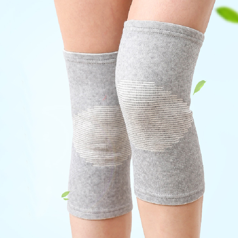 1pc Knee Support Protector 1 Pcs Leg Arthritis Injury Gym Sleeve Elasticated Bandage Knee Pad Charcoal Knitted Kneepads Warm