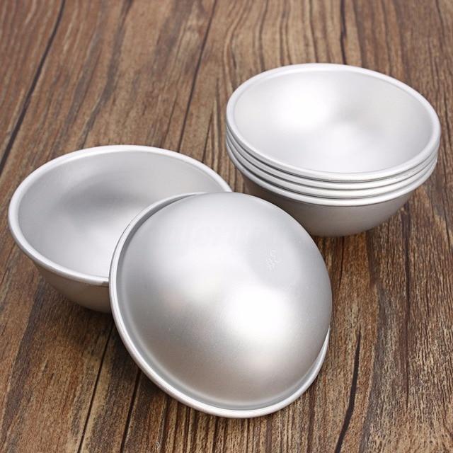 6pcs 3 Sets Aluminium Alloy Bath Bomb Molds DIY Tool Bath Bomb Salt Ball Homemade Crafting Gifts Semicircle Sphere