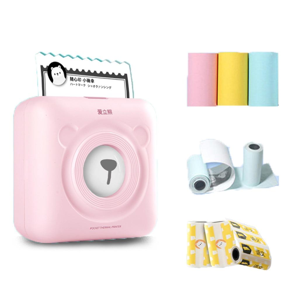 GOOJPRT PeriPage Mini Pocket Wireless BT Thermal Photo Printer Label Memo Printer 6 Rolls Thermal Receipt Sticker Paper 57*30mm