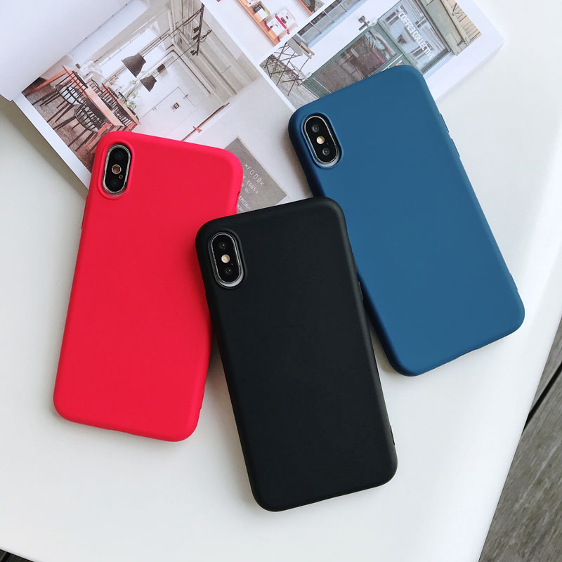 Luxury Soft TPU Silicone Skin friendly Phone Case For iPhone XS Max XR X 10 iPhone 8 7 8Plus 7Plus iPhone 6S 6 S 6Plus Cover in Fitted Cases from Cellphones Telecommunications