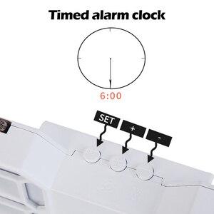Image 4 - 3D 大型 Led デジタル壁時計日付時間摂氏常夜灯表示テーブルデスクトップ時計アラーム用のリビングルーム
