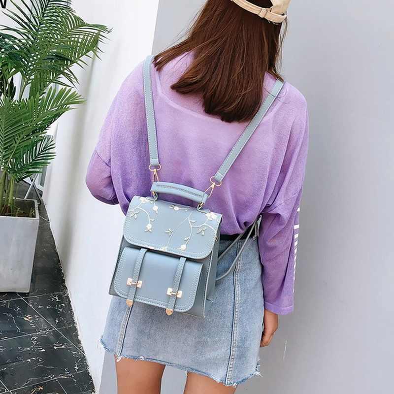 SHUJIN Rucksäcke frauen Weibliche Koreanische Version Mode Nylon Ring Dekoration Schulter Bookbags Satchel Trave Dropship
