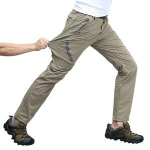 Уличные походные брюки размера плюс 8XL, мужские летние треккинговые спортивные брюки цвета хаки, мужские водонепроницаемые брюки для велос...