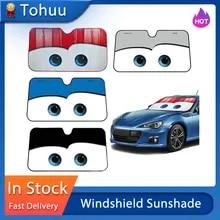 만화 창 포일 5 색 아이 픽사 가열 된 앞 유리 차양 130x70cm 자동차 앞 창 바이저 자동차 태양 보호