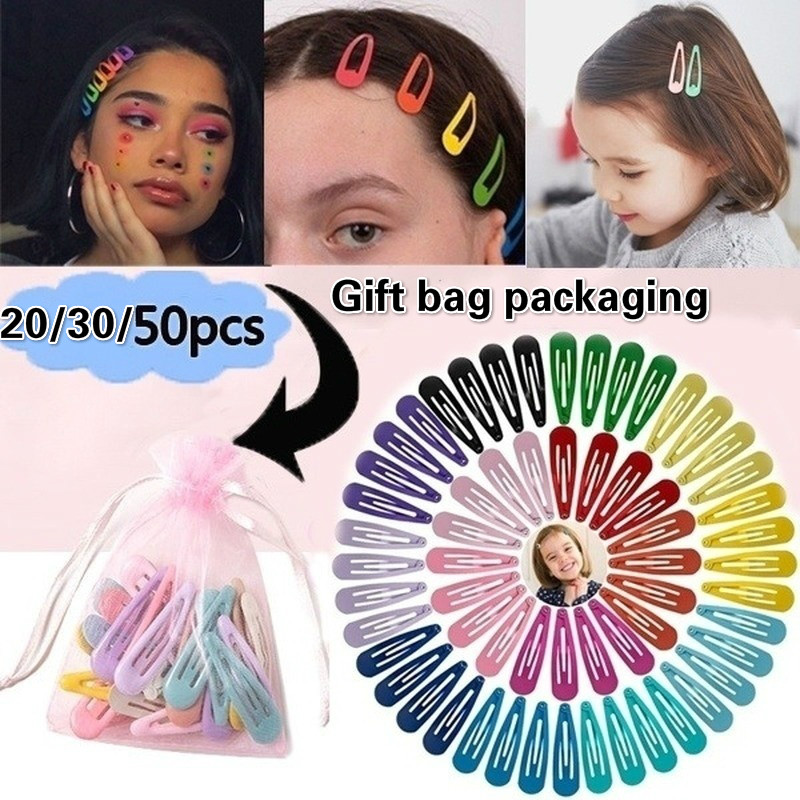 50Pcs Candy Color Baby Girls Hairpin Barrette Cute Hair Clips Kids Gifts Best