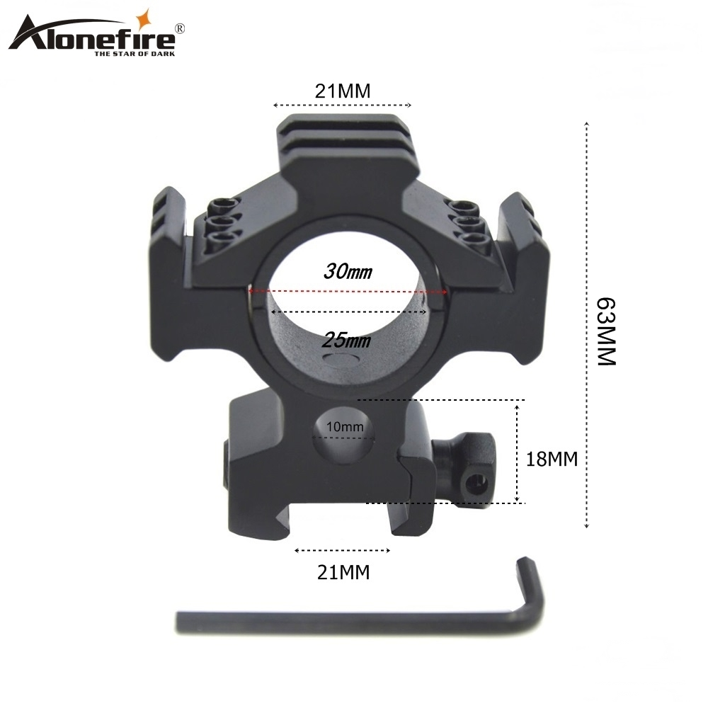 Alonefire MD3002 30mm Ring Weaver 21mm Multi Angle Rail Base Airsoft Rifle Shot Gun Lights Laser Sight Scope Hunting Mounted