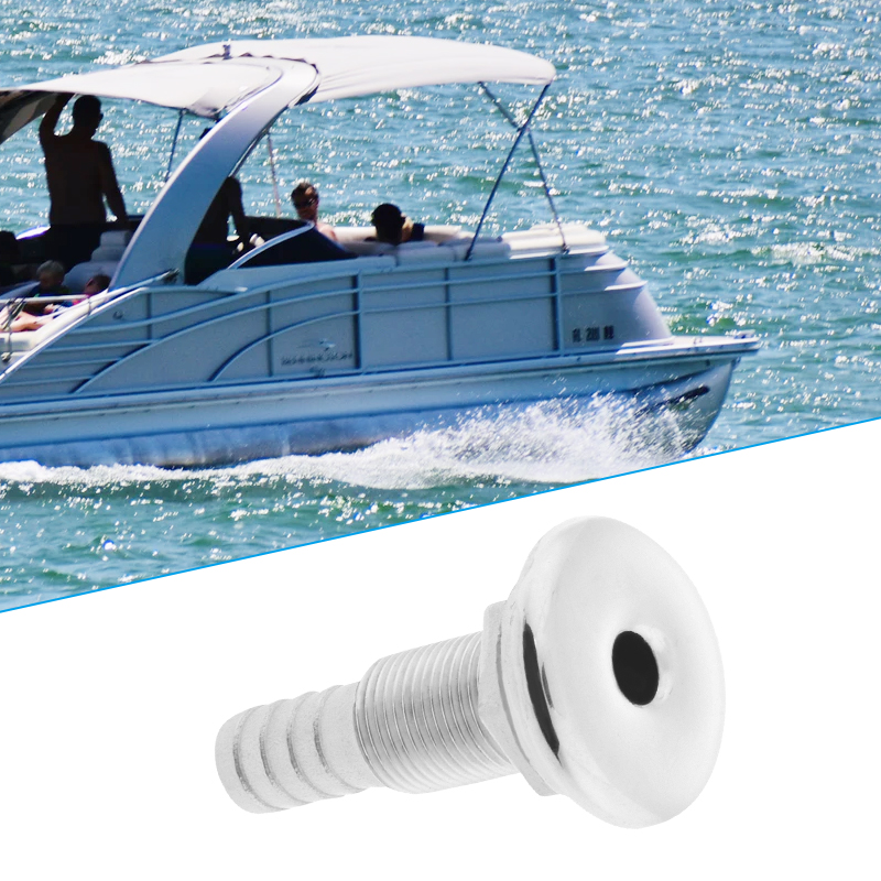 1 Pcs 1 2 Inch Marine Grade 316 Stainless Steel White Thru Hull Bilge Pump and Aerator Hose Fitting For Boats Yacht Kayak Etc in Marine Hardware from Automobiles Motorcycles