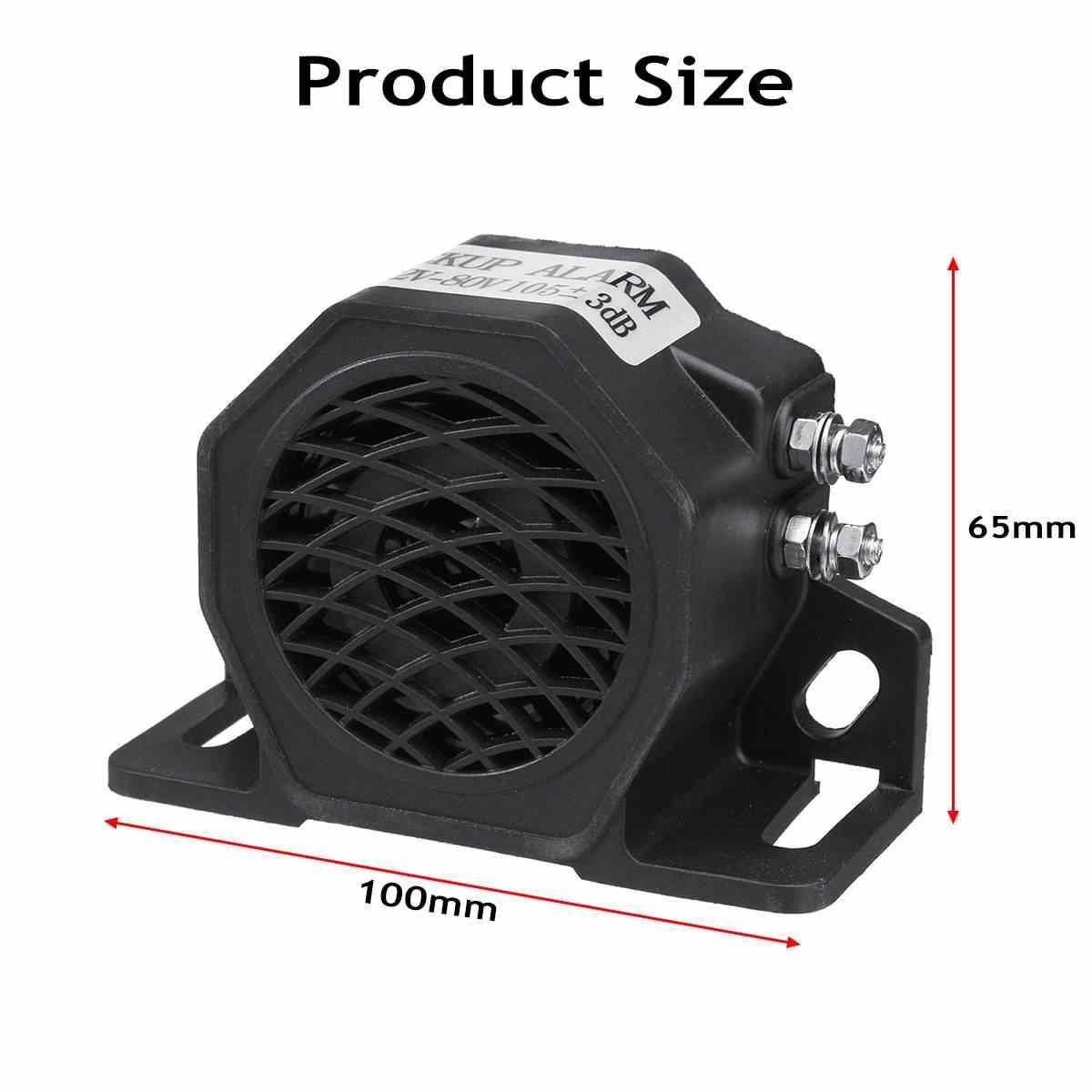 12 V-80 V Electric Buzzer Alarm Keras Speaker Peringatan Keamanan Mobil Tanduk Mobil Sirene Polisi Sirene Tanduk Udara kendaraan Listrik