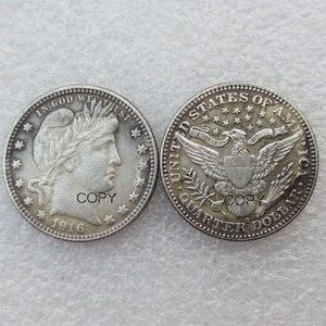 США Парикмахерская четверть долларов 1916 1916-D различные Мятные посеребренные копии монет
