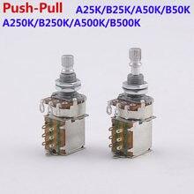 Potentiomètre Alpha Push Pull (POT) pour guitare électrique, basse 25K/B50K/250K/500K, 1 pièce, fabriqué en corée