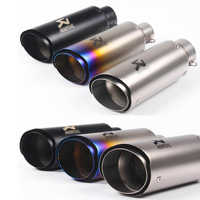 Universal 60mm 51mm Motorcycle Exhaust Pipe For Akrapovic Escape Moto for Z800 ZX10R R6 R3 R25 Muffler Racing Exhaust