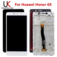 100% Tested Touch Screen For Huawei Honor 6X BLN L24 BLN AL10 BLN L21 BLN L22 LCD Display With Touch Screen Assembly|Mobile Phone LCD Screens| |  -