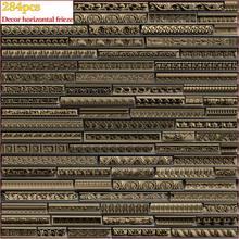 284 pçs 3d stl modelo decoração horizontal friso para cnc 4 eixo gravador carvingbed relevo para cnc roteador aspire artcam