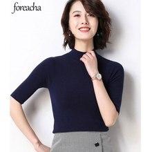foreacha autumn plus size half-high collar Women