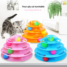 Cat Turntable Ball Pet-Toys-Supplies Cat-Toy Intelligence Funny Tower-Tracks-Disc Four-Layer