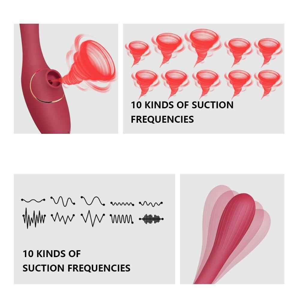 Clit Sucking vibratör kadınlar için erotik seks oyuncak Silicone10 hız şarj edilebilir yetişkin vajina yapay penis vibratörler kadın masajı