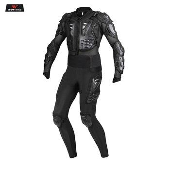 WOSAWE Motorcycle Jacket Men Full Body Armor Motocross Racing Moto Riding Motorbike Hip Pads Protection