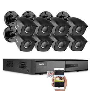 Image 1 - Sannce dvr 1080n cctv câmera, gravador de vídeo, 4/8 peças 2mp, kit de vigilância residencial e visão noturna, à prova d água