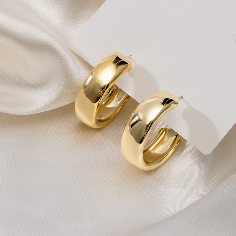 2021 модные минималистичные сапоги круглые большие серьги-кольца для женщин в Корейском Стиле Золотые массивные серьги вечерние трендовые ю...