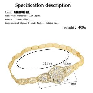 Image 5 - SUNSPICEMS серебряный цвет R металлическая цепь пояс для женщин марокканский кафтан пояс Европейский свадебный банкет ювелирные изделия для тела подарок для невесты
