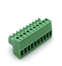 50 pces passo 3.5 15edgk 2edgk pino de ângulo direito 2p 3p 4p parafuso plug-in pcb conector fênmeal bloco terminal pluggable morse