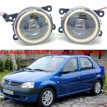 For Renault Logan Saloon LS 2004-2015 Car styling New Led Fog Lights 30W DRL Angel Eyes Lamp 2pcs