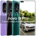 Newest Novo 8 Pro Smartphone Android 8GB RAM 256GB ROM 6800mAh Deca Core CPU Mobile Phone 7.3