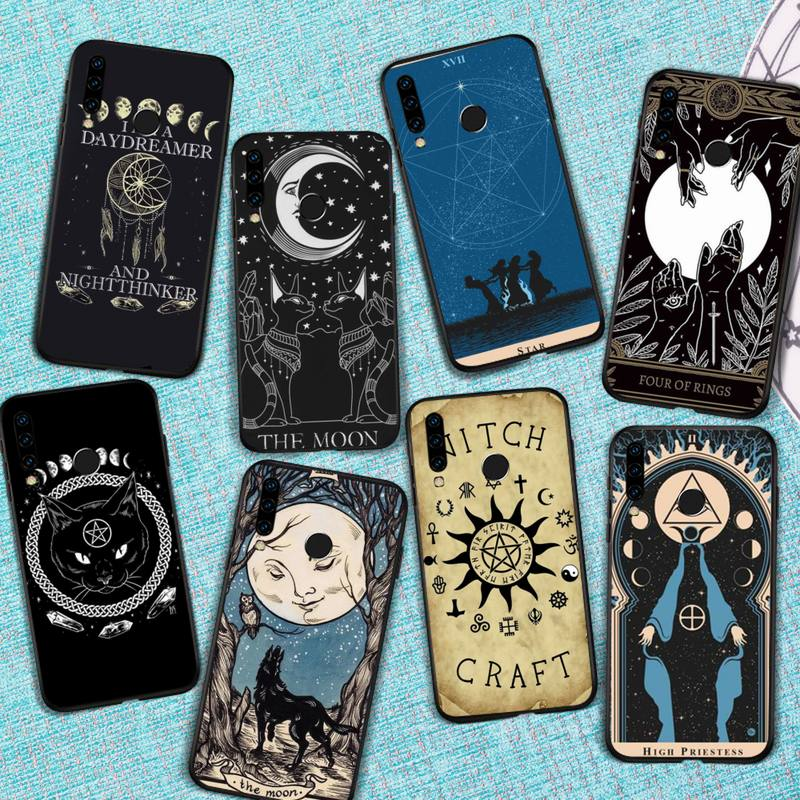 Witches moon Tarot Mystery totem Phone Case For Huawei Honor view 7a5.45inch 7c5.7inch 8x 8a 8c 9 9x 10 20 10i 20i lite pro