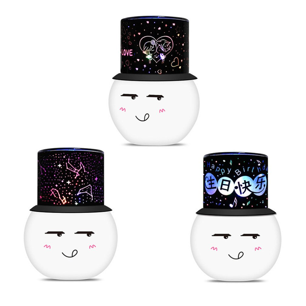Colorful Led Projection Lamp Tanabata Gift Charming Valentine'S Day Romantic Birthday Gift Rotating Light