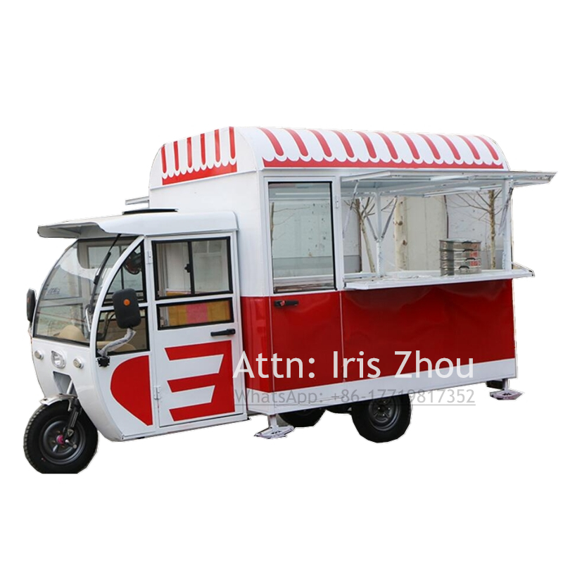 Tricycle Style Coffee Food Truck Mobile Food Kiosk Food Cart Food Vending Tuk Tuk