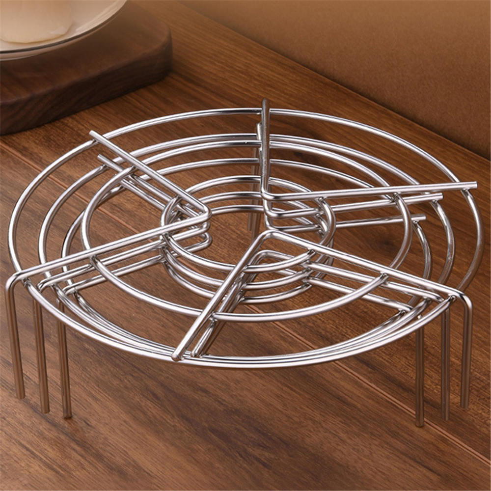 201 Stainless Steel Steaming Rack Multi-Purpose Kitchen Cookware Round Pot Steamer Rice Cooker Steam Wear Resistant 4mm Thick