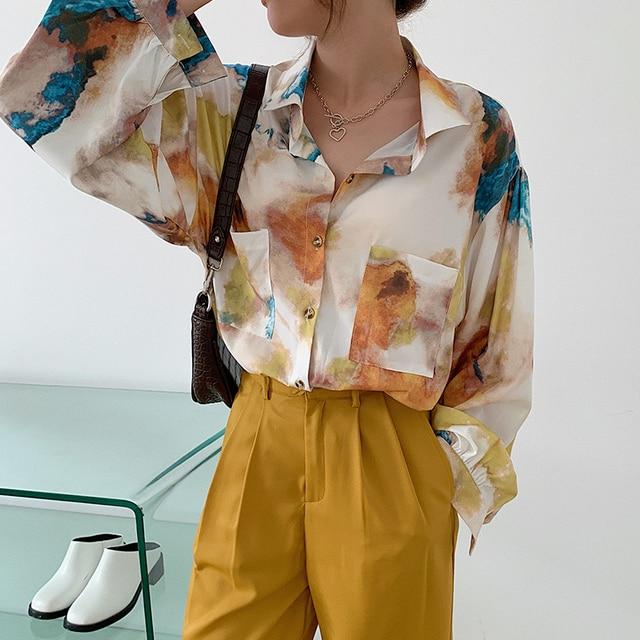 Oversized Long Sleeve Blouse  5