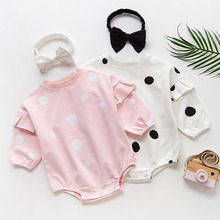 Newborn Cute Baby Rompers 2pcs Baby Girls Clothes Jumpsuit Romper+Headband Infant Toddler Bebe Kids Spring Autumn Outfits Set ruffled flower baby rompers summer newborn baby costumes kids jumpsuit toddler baby girl romper ropa bebe clothes polo outfits