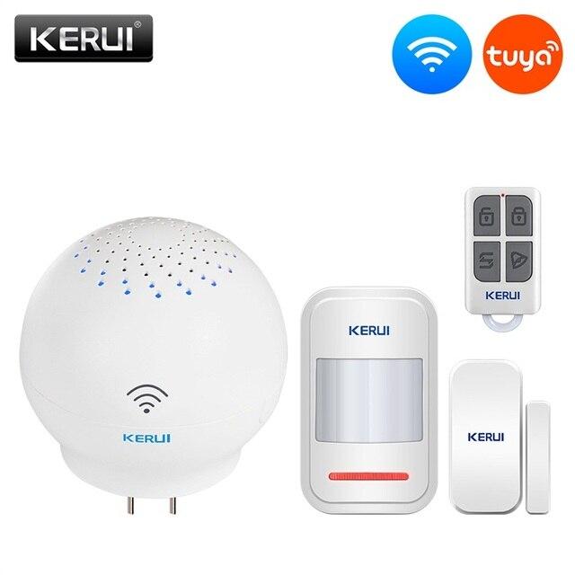 KERUI Tuya Multifunctional Gateway WIFI Home Security Intelligent Smart Alarm System Work With Google Assistant/Alexa Control