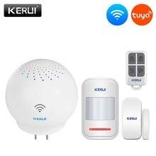 KERUI Tuya çok fonksiyonlu ağ geçidi WIFI ev güvenlik akıllı akıllı Alarm sistemi ile çalışmak Google asistan/Alexa kontrol
