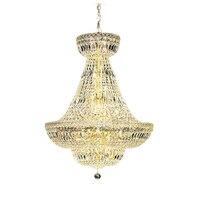 Iluminação Phube Império Francês Ouro Grande Chrome Lustres Lustres de Iluminação Moderno Luz do Candelabro de Cristal Lustre de Iluminação|Lustres| |  -