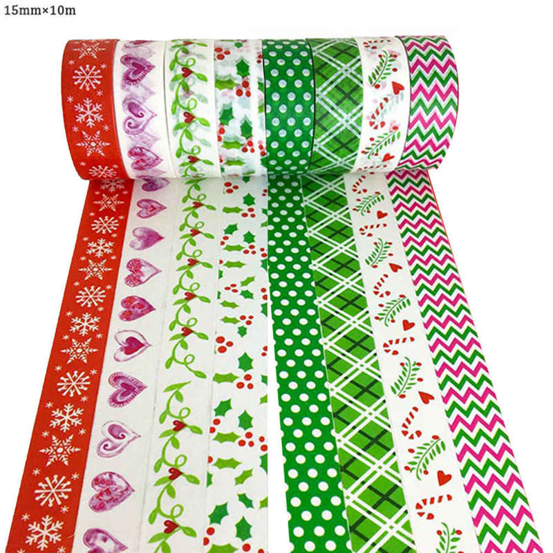 Snow Deers Christmas Washi Tape Tree Decorative DIY Scrapbooking Masking Tape School Office Supply 1 Pcs 15mmX10 M