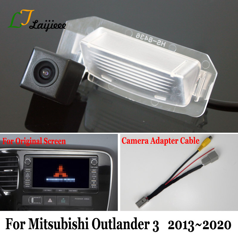 For <font><b>Mitsubishi</b></font> Outlander 3 GF GG ZJ ZK 2013~2020 HD Car Rear Parking Reverse Camera & Camera Adapter Cable Compatible OEM Screen image