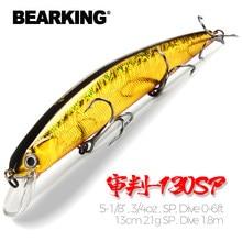 Bearking 13cm 21g sp depth1.8m topo iscas de pesca wobbler hard bait qualidade profissional minnow para equipamento de pesca