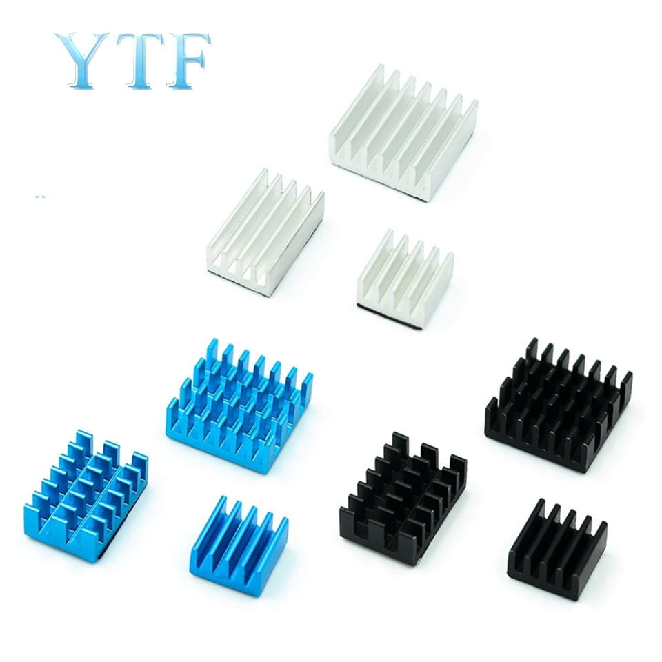 Raspberry Pi 4B Substituting 4 Anodized Color Fin Heat Sink With Adhesive Board IC
