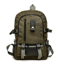 Men's Casual Backpack Outdoor Sports Canvas Backpack Middle School Students School Bag Travel Bag backpack men s backpack middle school students school bag usb charging backpack korean style outdoor travel business computer ba
