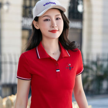 2019 Summer women slim golf polo shirts Short-sleeved Casual Pique cotton embroidery logo female mujer fashion homme button