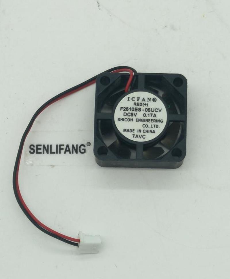 For Original ICFAN 2510 2.5cm 0.17A F2510ES-05UCV 25*25*10mm 2 Line Mute Mini Fan Free Shipping