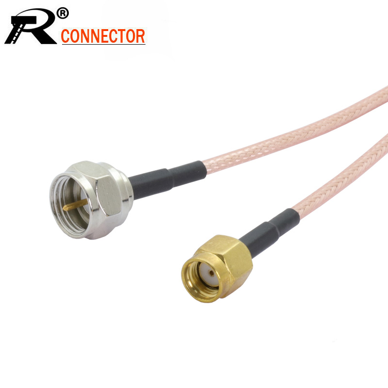 Un par de RP TNC Macho a RP SMA Hembra Cable Montaje Conector