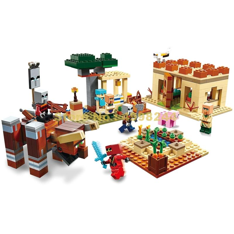 562 шт. myworld стихийных бедствий жители raid Строительные блоки 21160 игрушка