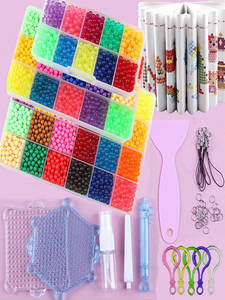 Toys Pen-Tweezer-Tool Beads Craft Diy-Set Girls Gift Magic-Water Kids Children Pegboard-Kit