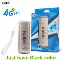 Kuwfi usb 4g modem lte wifi dongle móvel wifi rede hotspot mini 3g 4g wifi modem roteador com slot para cartão sim para o carro ao ar livre