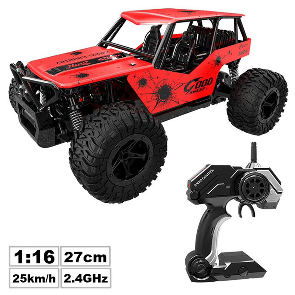 Rc Car 1:16 High Speed Off-road Truck Radio Remote Control Car 2.4hz Control Distance 50m Non-interference Rc Car Children's Toy