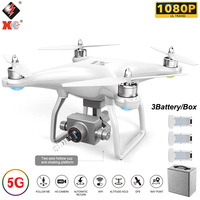 WLtoys XK X1 Quadcopter 1080P Camera 5G Wifi FPV 2 Axis Brushless Motor Self stabilizing Gimbal 17 Mins Flight Time GPS RC Drone