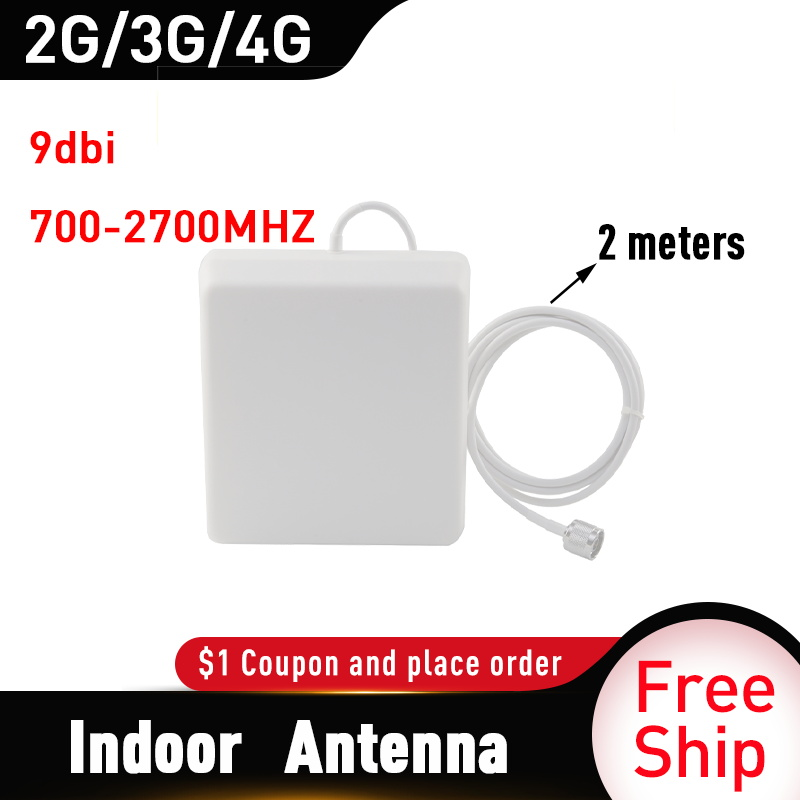 2G 3G 4G Panel Antenna 700-2700MHz CDMA GSM DCS LTE Indoor Antenna Gsm Cell Phone Signal Repeater 4g Mobile Booster  Antenna